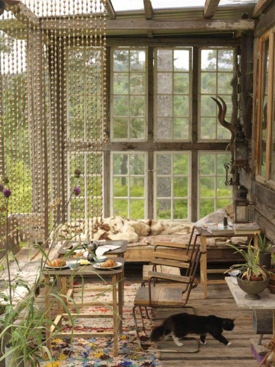 madera iluminacion diseño patio ventanas