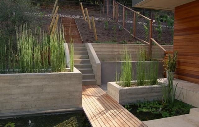 madera madera jardin flores terraza
