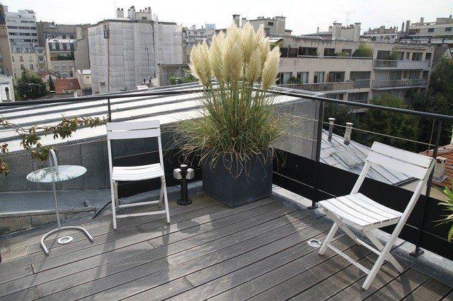 madera pared verde sillas mesa plantas