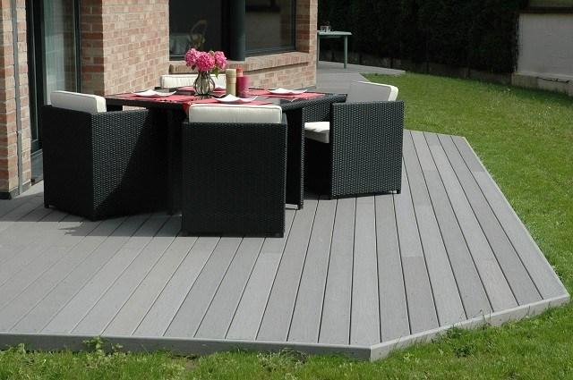 madera terraza plataforma decoración moderno