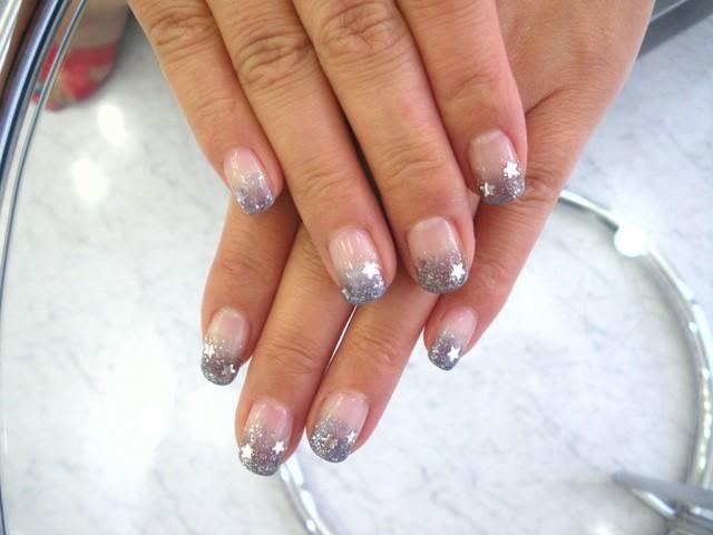 manicura francesa idea uñas cortas elegante