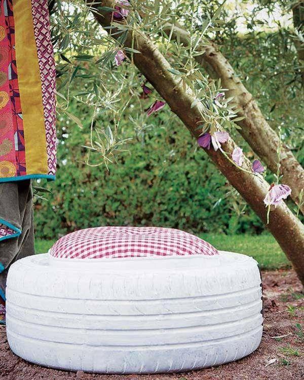 manualidades originales silla cojin neumatico