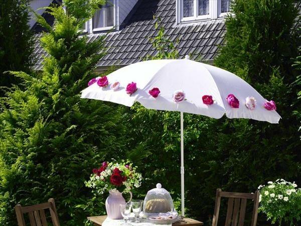 manualidades originales sombrilla flores diseño