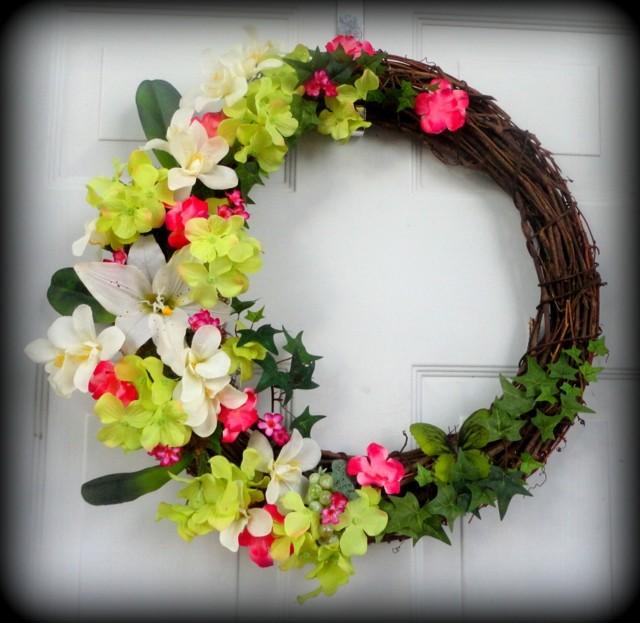 maravilloso interesante idea puerta delantera flores