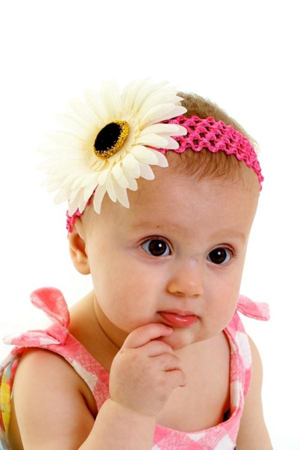 diadema bebé margarita grande