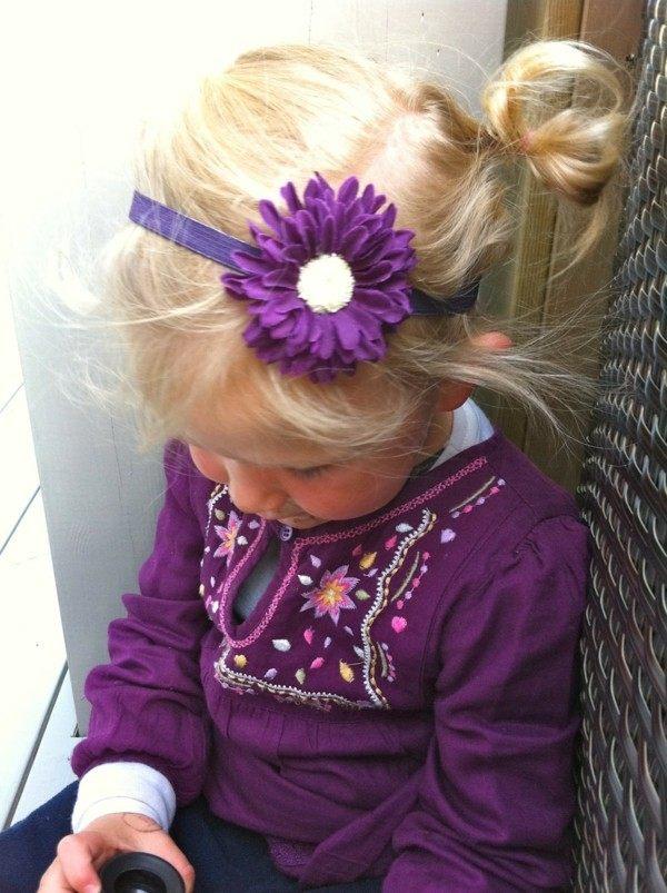 margarita púrpura diadema niña