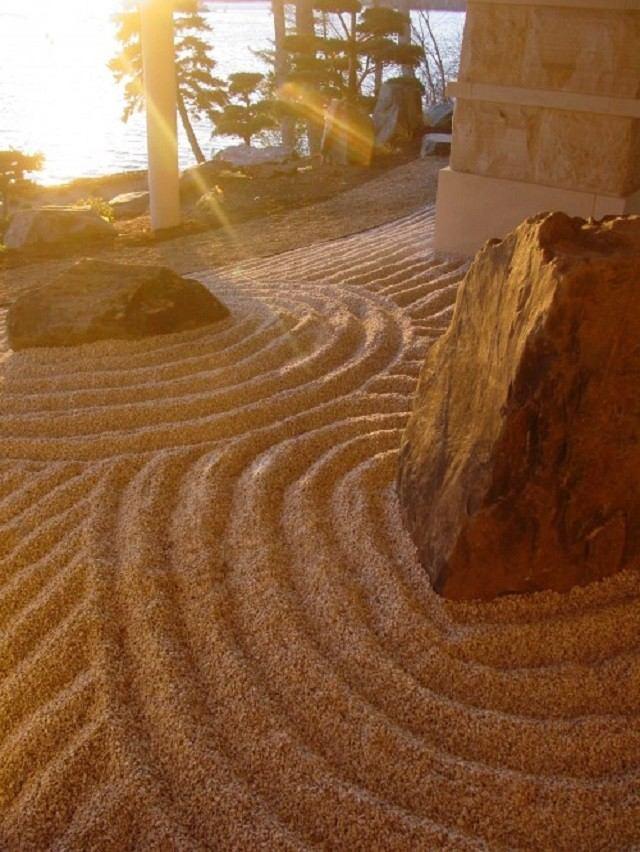 meditacion zen  jardin arena piedras filosofia