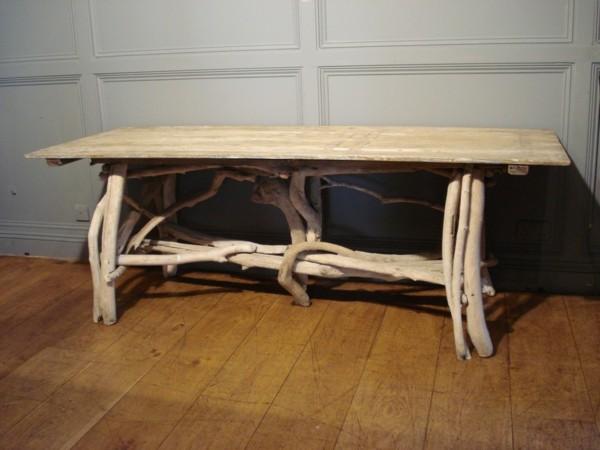 mesa grande madera flotante rectangular