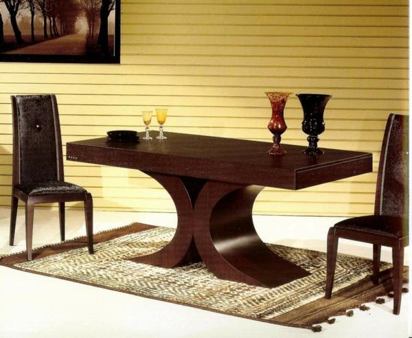 Muebles de comedor en el sal n para las cenas especiales for Mesas de salon de madera