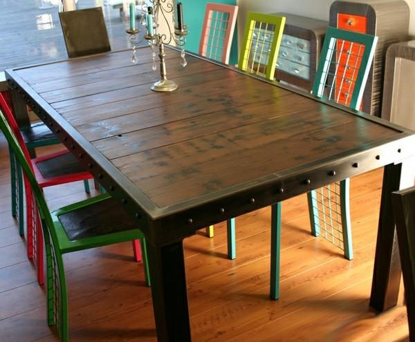 Muebles de comedor en el sal n para las cenas especiales for Mesas y sillas diseno