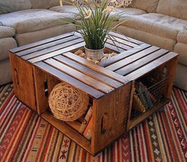 mesa original muebles palet madera