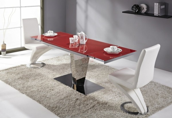 Comedores modernos para las cenas con mucha clase for Casa minimalista roja