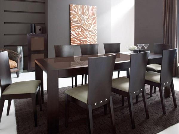 mesa comedor sillas marrones