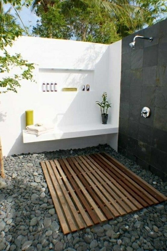 minimalista madera piedra accesorios ideas