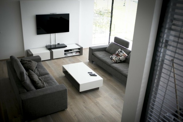Salon minimalista moderno moderno minimalista nueva no for Muebles gris moderno