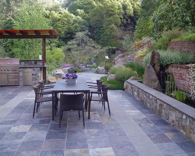 mobiliario comedor exterior patio cocina moderna