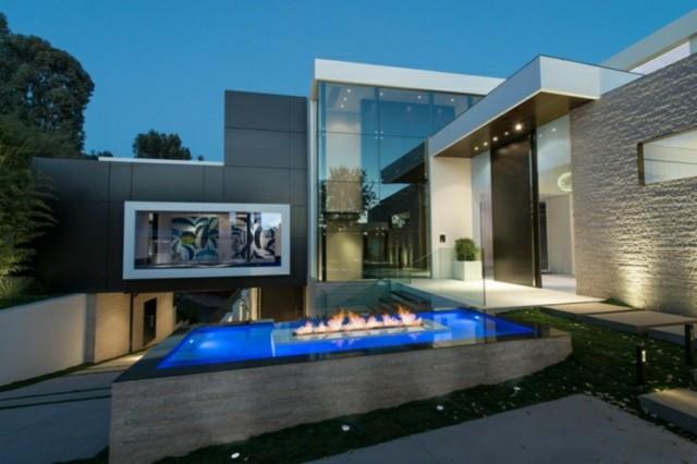 mobiliario de jardín piscina pozo fuego