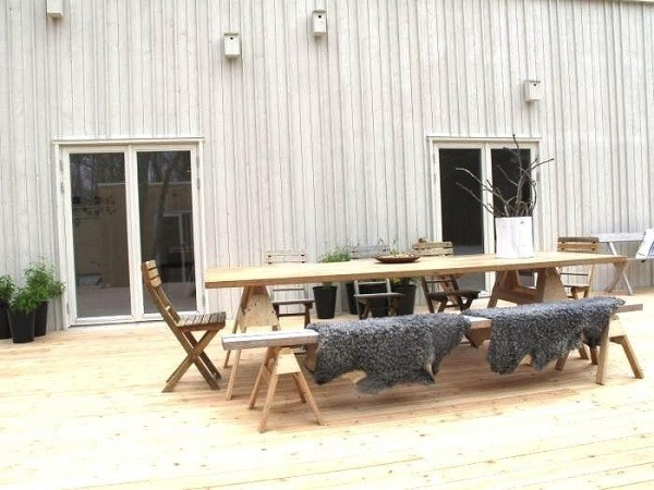 mobiliario madera plegable plantas diseño