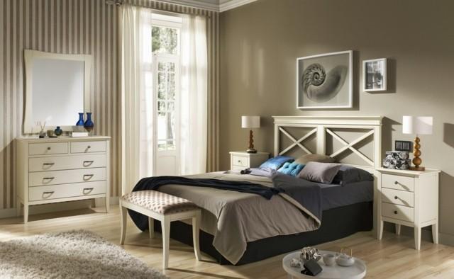 mobiliario marron calido estilo cortinas