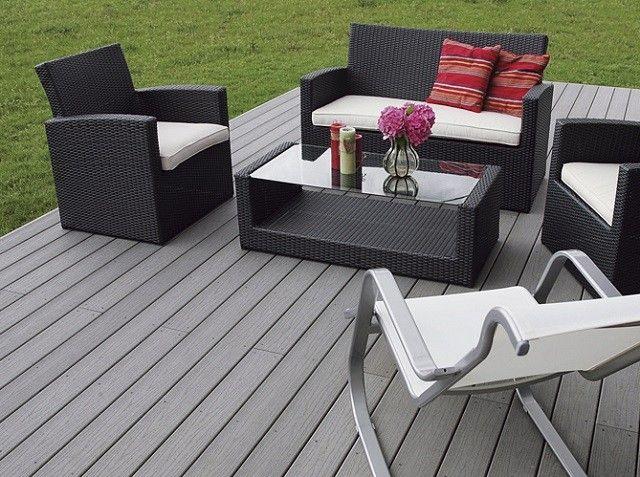 mobiliario moderno terraza cojines sillas