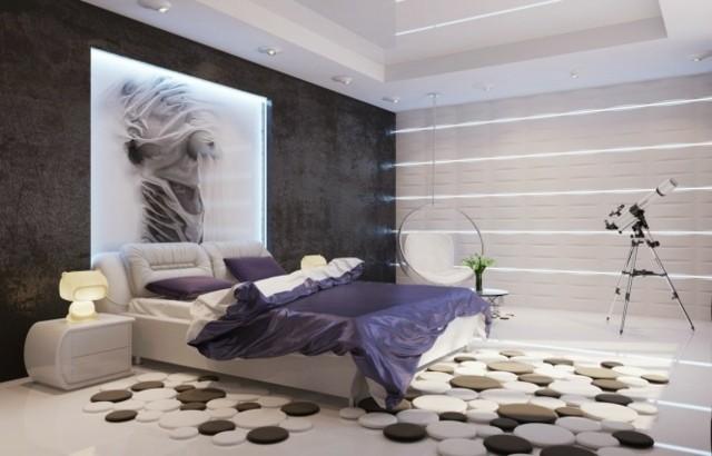 moderna habitación diseño cojines lámparas