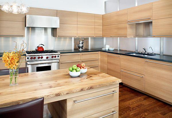 moderna muebles de madera despejada  armarios empotrados