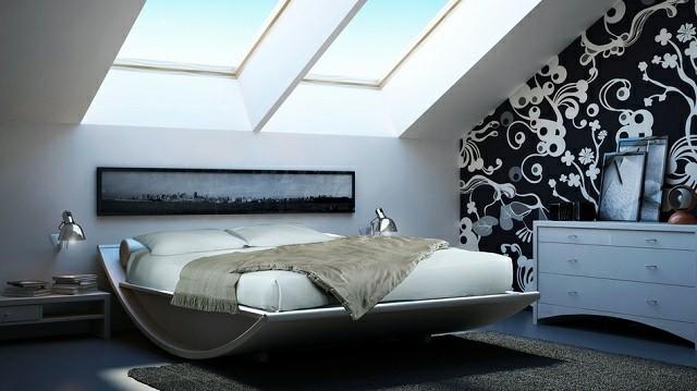 moderno decoracion luces pared cama