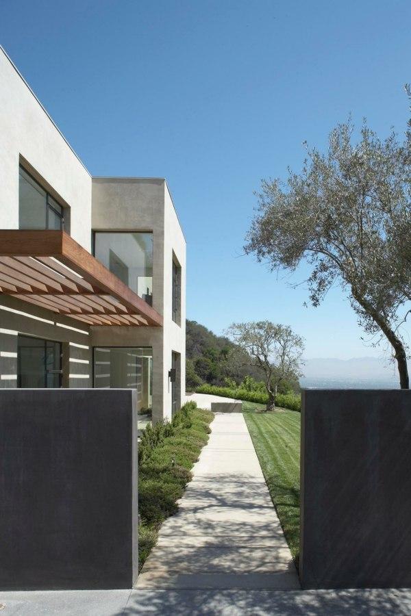 moderno minimalista entrada cesped bonito