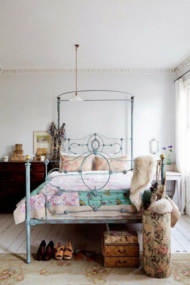 shabby chic moderno bonito motivos africanos dormitorio