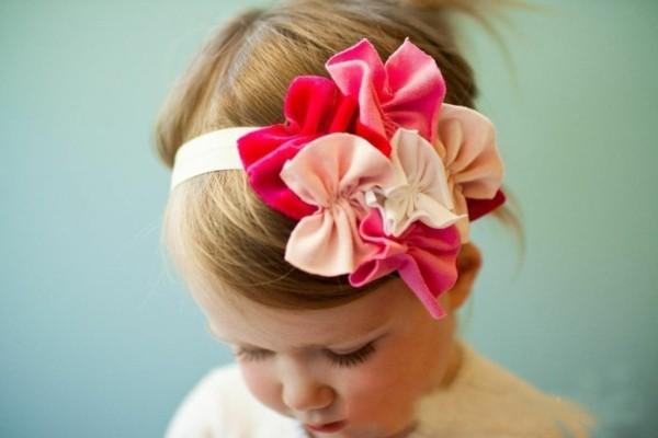 lazos muchos diadema niña rosa