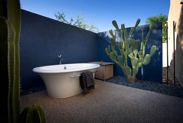muebles baño bañera cactus estilo minimalista