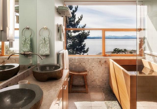 Baño Estilo Oriental:Decoración de interiores salón con muebles de diseño al estilo zen