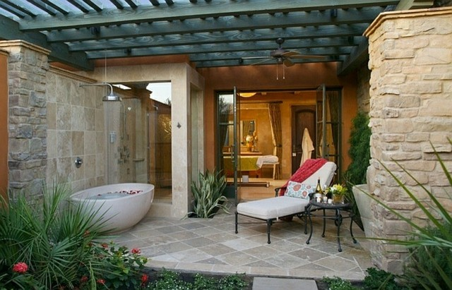 muebles baño exterior bañera porcelana porche