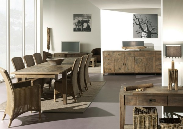 muebles comedor rústicos madera
