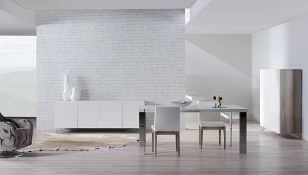Muebles de comedor en el sal n para las cenas especiales - Muebles comedor blancos ...