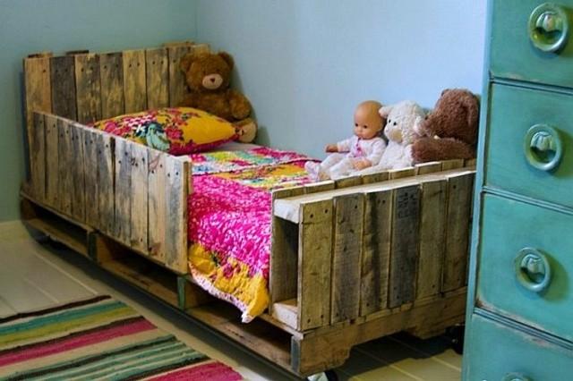 muebles con palets diseño cama niños