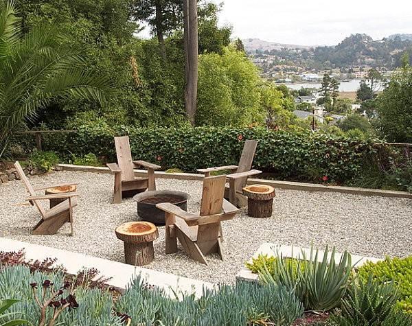 muebles de jardn madera silla mobiliario rustico