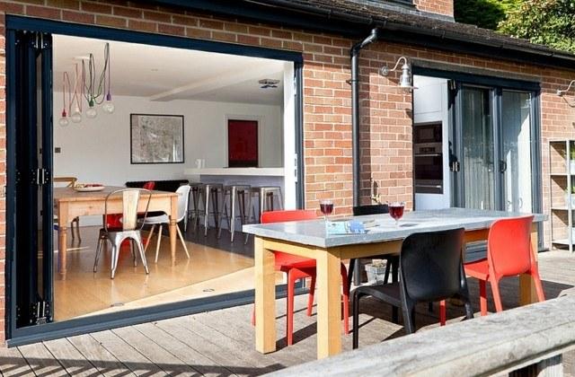 muebles de terraza mesa sillas colores