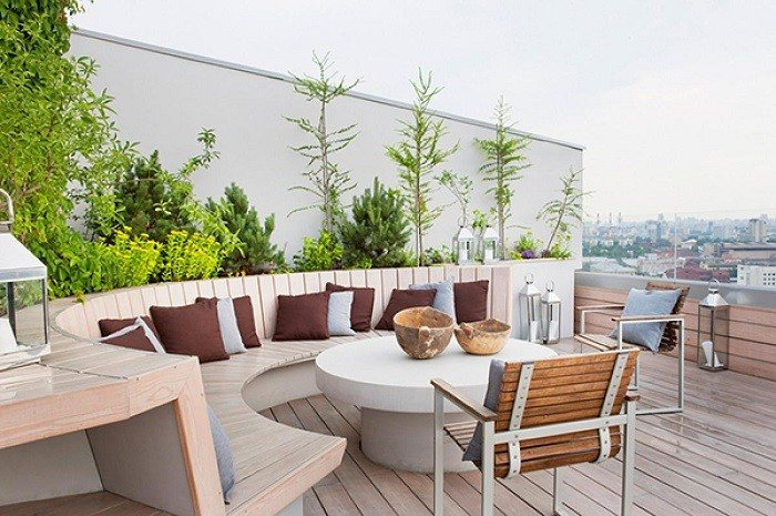 muebles de jardín sillas exterior terraza madera