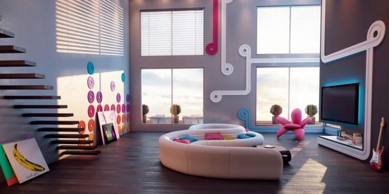 muebles de salón divertido jóven