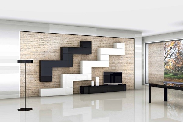 Muebles de sal n estilo moda y comodidad - Muebles con ladrillos ...