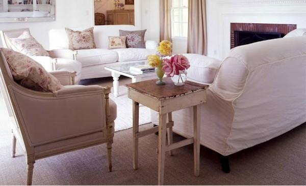 muebles estilo chabby chic mesilla