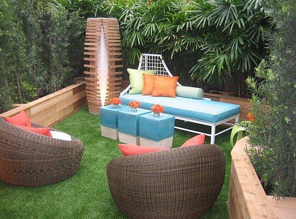 muebles exterior ratana bonito comodo jardin