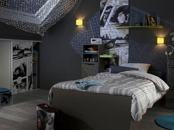Muebles juveniles para dormitorios de adolescentes for Cuarto color gris