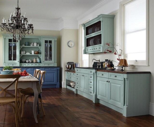 muebles madera color original cocina vintage