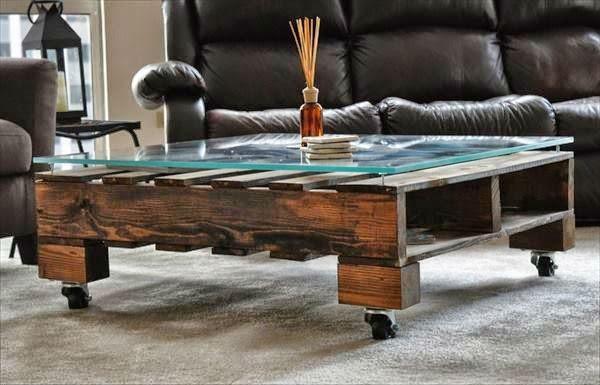 muebles palet madera ruedas práctica
