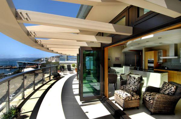 muebles pérgola madera terraza balcon