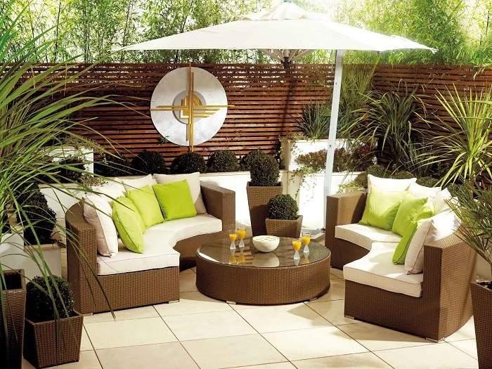 muebles de exterior mesa ratan sofa