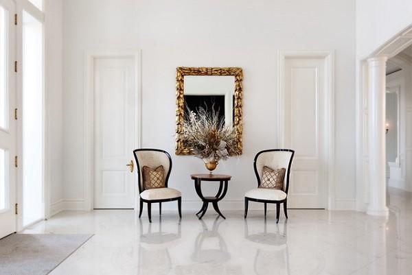 muebles salon mesa sillas luz