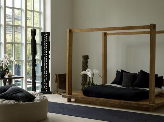 muebles zen decorar dormitorio negro bonito